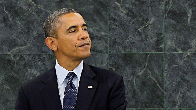 """Barack Obama am 24. September bei seiner Rede vor den Vereinten Nationen: """"Ich glaube, Amerika ist etwas Besonderes""""."""