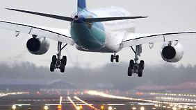 Schlingerkurs beim Landeanflug auf Schiphol.