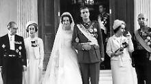 Prinzessin Sophia von Griechenland und Don Juan Carlos von Asturien heiraten im Mai 1962.