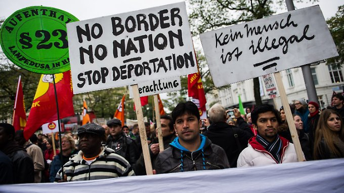 9000 Menschen demonstrierten in Hamburg.