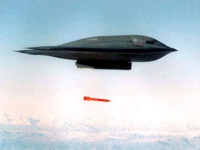 Bild eines Tests mit B61-Bomben in den USA.