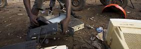 Die Müllkippe Agbogbloshi in Accra, Ghana.