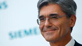 Trotz aller Probleme, Siemens-Chef Kaeser bleibt zuversichtlich.