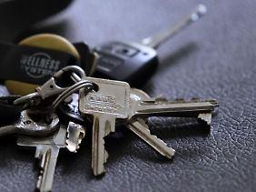 Vorsicht vor Verlust:Seine Schlüssel sollte der Mieter sorgfältig aufbewahren.