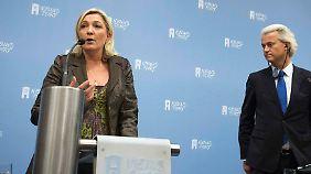 AfD will nicht mitmachen: Le Pen und Wilders werben für Anti-EU-Bündnis