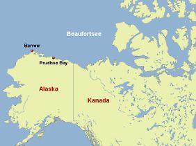 Die Beaufortsee ist ein Teil des Nordpolarmeers vor der Nordküste Kanadas und des US-Bundesstaats Alaska.