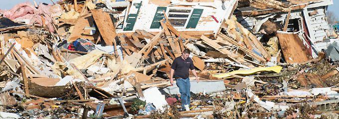 Zerstörtes Haus in Gifford/Illinois.