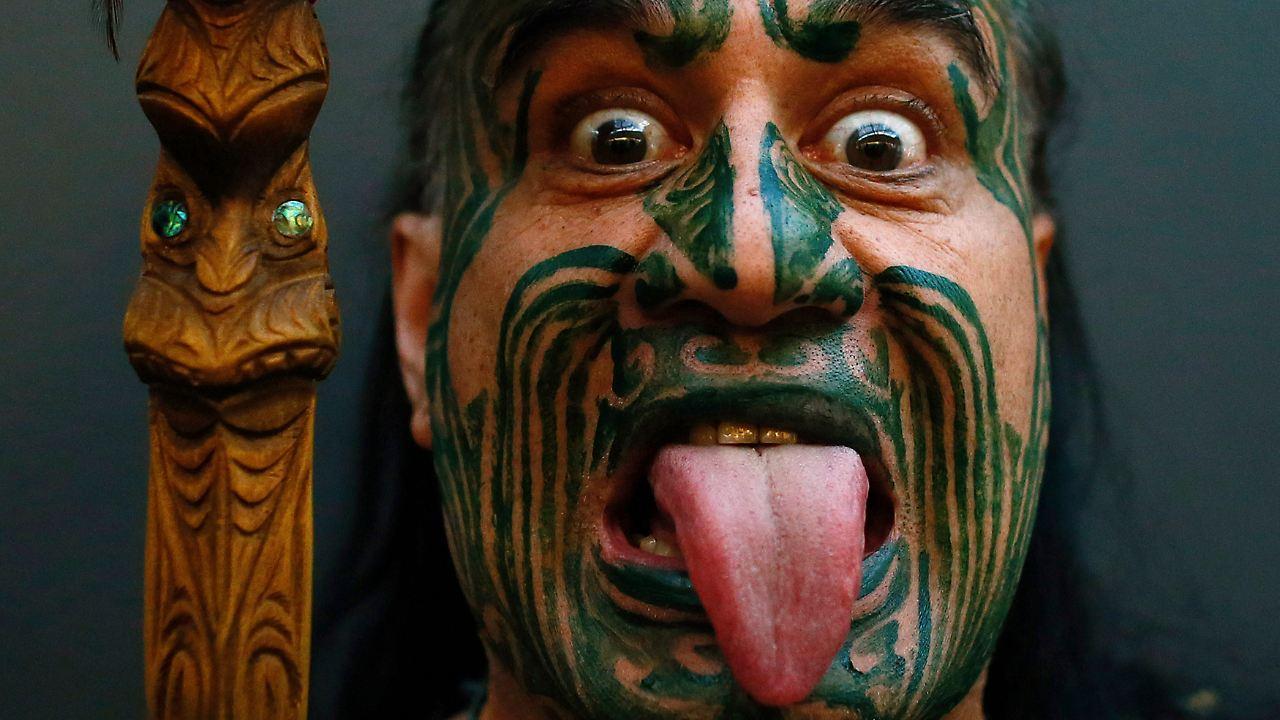 Magnificent Maori Krieger Photo Of Eeland Vor Playoff Tig: Maori-krieger Begrüßen Mexikos