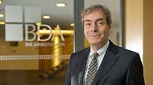 Vertritt die Interessen der deutschen Chefs und Unternehmer: Ingo Kramer, Präsident des Bundesvereinigung der Deutschen Arbeitgeberverbände (BDA) im Haus der Wirtschaft in Berlin.