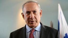 """Israels Ministerpräsident Netanjahu nennt das Iran-Abkommen einen """"historischen Fehler""""."""