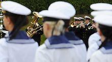 Marine-Soldatinnen in der Marine-Schule Mürwik.