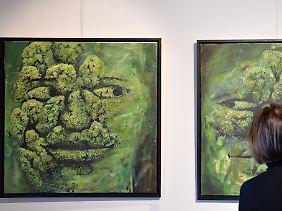 Grünkohl ist nicht nur gesund, er kann auch als Kunstobjekt dienen.