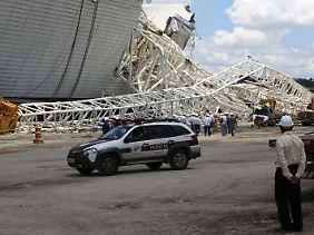 Zwei Arbeiter starben beim Stadionunglück in Sao Paulo.