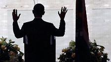 Auch Obama würdigt sein Vorbild Madiba, wie Nelson von seinen Freunden genannt wird.