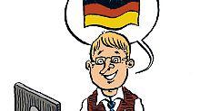 Ein deutscher Beamter, wie ihn der Dresdner Zeichner Marian Meinhardt-Schönfeld sieht.