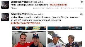 Schumacher in Lebensgefahr: Vettel ist schockiert, Heidfeld hofft, Massa betet