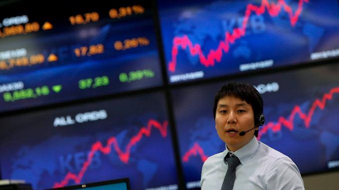 Der schwache Won verleiht der Börse in Seoul Stärke.