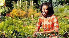 ... der von ihr selbst im Frühjahr 2009 angelegte Gemüsegarten im Weißen Haus ist eine andere.