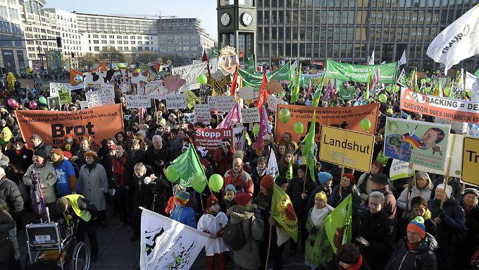 Die Demonstranten wollen das Höfesterben stoppen.