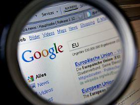 Mächtige Marktposition: In Europa und den USA sucht die Mehrheit der Nutzer bei Google.