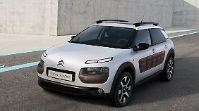 Besonders auffällig beim Citroën C4 Cactus sind die Airpumps an den Seiten des Autos.