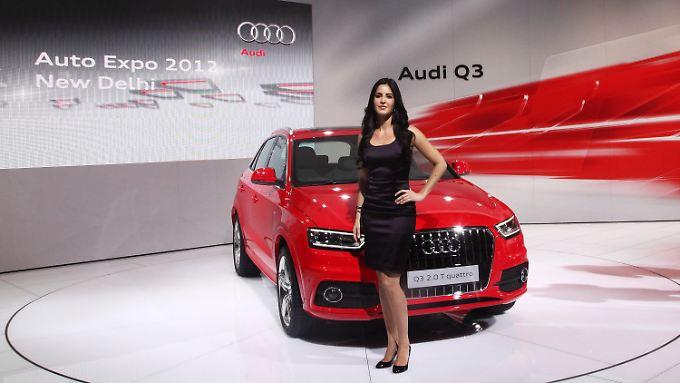 Audi Q3 auf der Automesse in Neu Delhi: Deutsche Oberklassemodelle sind in Indien gefragt.