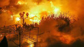 Tote und Verletzte bei Krawallen in Kiew: Der Maidan steht in Flammen