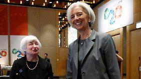 Mächtige Frauen: US-Notenbankchefin Yellen (l) mit IWF-Chefin Christine Lagarde in Sydney.