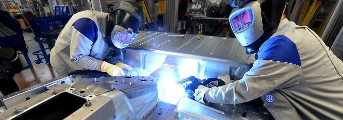 Produktion im VW-Nutzfahrzeugwerk in Hannover.