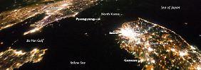 Beeindruckendes Foto von der ISS: Nordkorea liegt im Dunkeln
