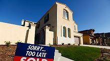 Der Triumph der Makler ist nicht zu übersehen: In einem insgesamt anziehenden Häusermarkt ist auch dieser Neubau im kalifornischen San Marcos bereits verkauft.