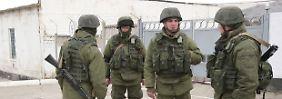 Russische Einsatzkräfte auf der Krim.
