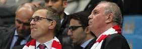Seit' an Seit': Audi-Chef Rupert Stadler und Uli Hoeneß.