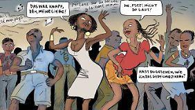 Auf der Tanzfläche geht's heiß her - auch in der Elfenbeinküste.