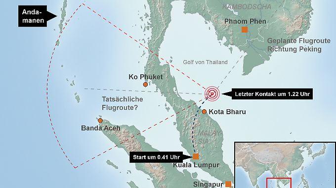 Von Flug MH370 fehlt jede Spur.