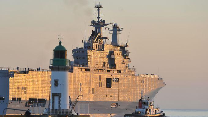 """Dir zur Mistral-Klasse gehörende """"Vladivostok"""", die Russland in Frankreich in Auftrag gegeben hat."""