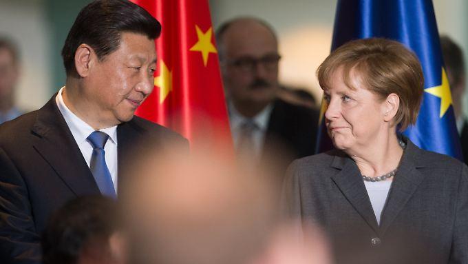Gewachsene Freundschaft, die auch Kritik verträgt: Xi Jinping musste sich in Deutschland auch ein paar Takte zur Menschenrechtslage in China anhören.