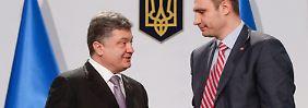 Präsidentschaftswahl in der Ukraine: Klitschko verzichtet zugunsten von Poroschenko