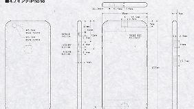 Diese Baupläne passen zu den Fotos, die das iPhone 6 zeigen sollen.