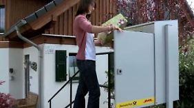 Paketbox im Vorgarten: Post will vom Online-Handel profitieren