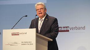 Vertrauen in Banken erschüttert: Gauck richtet mahnende Worte an die Finanzbranche
