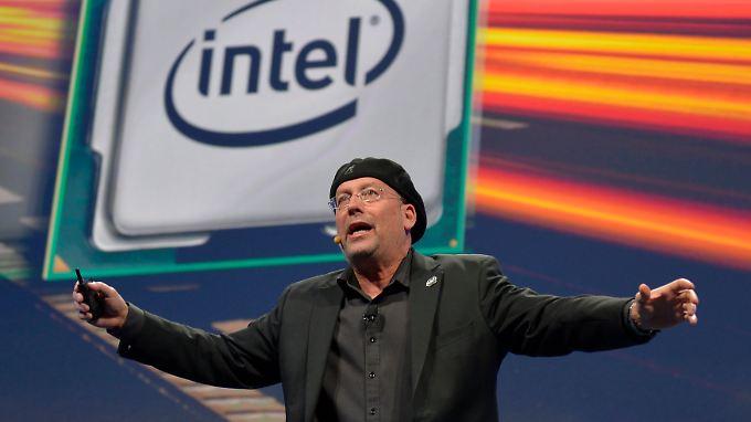 Mooly Eden, Intels Chef der PC-Abteilung, auf der Elektronik-Messe in Las Vegas.