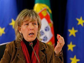 Finanzministerin Maria Luís Albuquerque schwingt weiter den Rotstift.