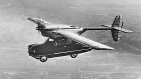 Die zehn Meter Spannweite machten das ConvAirCar von 1947 für den Straßenverkehr völlig untauglich.