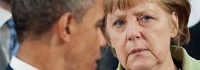 Zu Besuch beim Freund: Merkel muss den Mund aufmachen