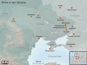 Brennpunkt Slawjansk: Im Osten der Ukraine hält ein Milizenführer sieben OSZE-Geiseln gefangen.