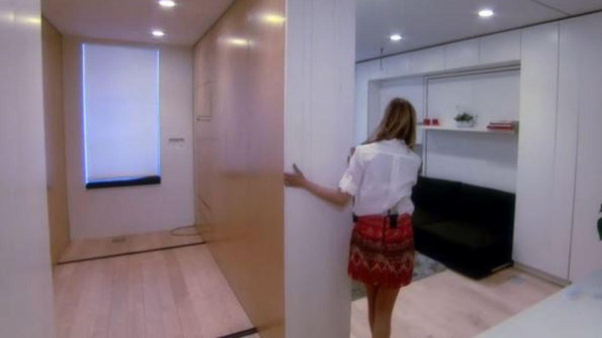 raumwunder in new york 40 quadratmeter wohnung verwandelt sich in acht r ume n. Black Bedroom Furniture Sets. Home Design Ideas