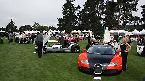 Bugatti glänzt mit einem besonders üppigen Auftritt und darf sich über einige Verkäufe freuen.