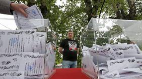 Wahlbetrug in Ostukraine: EU und USA erkennen Referendum nicht an