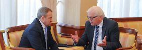 Treffen mit Jazenjuk: Steinmeier versucht erneut in Ukraine-Krise zu vermitteln